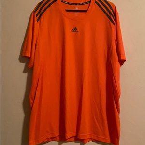 Men's orange adidas tee